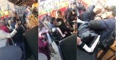 Ladrão em ação acaba preso pelo pescoço numa feira
