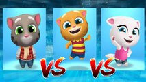 Frosty Tom vs My Talking Ginger vs My Talking Angela — Talking Tom Gold Run — Cute Puppy and Cats