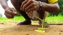 La Technologie Primitive: Simple BRICOLAGE Oiseau Piège de Faire de Cutter Que le Travail à 100% Par Smart Boy
