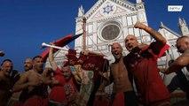 Modern-day Florentine gladiators slug it out in ancient ultraviolent footy game