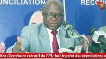 Kouakou Kra (Secrétaire exécutif du FPI) fait le point des négociations avec le gouvernement sur la réforme de la CEI