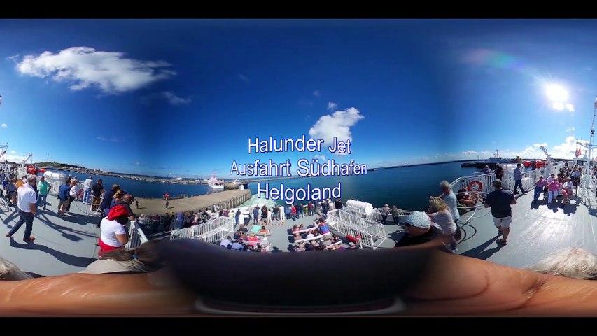 Halunder Jet-Ausfahrt Südhafen Helgoland
