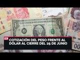 Así cerró el peso frente al dólar
