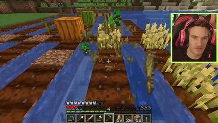 Minecraft is scary!!! - pewdiepie
