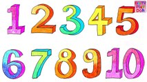 Learn Numbers 1 To 10 For Kids Children Babies Toddlers - Number Song - Kids TV Play Doh - Preschool
