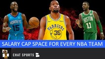 Projected Salary Cap Space For All 30 NBA Teams As Free Agency Starts