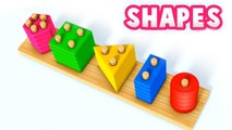 Learn Shapes with Toy Baby Wooden Blocks - Learning Videos for Children