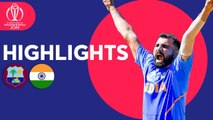 West Indies vs India - Match Highlights - ICC Cricket World Cup 2019