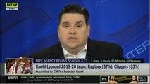 Brian Windhorst REPORT: Kawhi leonard 2019-20 team: Raptors (67-), Clippers (33-)