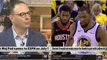 Adrian Wojnarowski on Kevin Durant: it would not make sense for Kawhi to pair with Lebron in LA