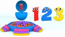Learn Numbers with Surprise Eggs and Color Balls - Colors, Shapes and Numbers Collection