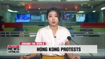 Protesters in Hong Kong gather outside Justice Department to demand complete withdrawal of extradition bill