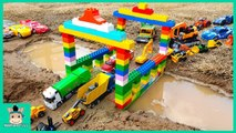 Build Bridge For Cars Toys - Excavator Tractor Dump Truck Toys For Kids - MariAndToys