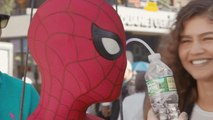 WATCH Tom Holland Drink Water Through His Eye on 'Spider-Man' Set