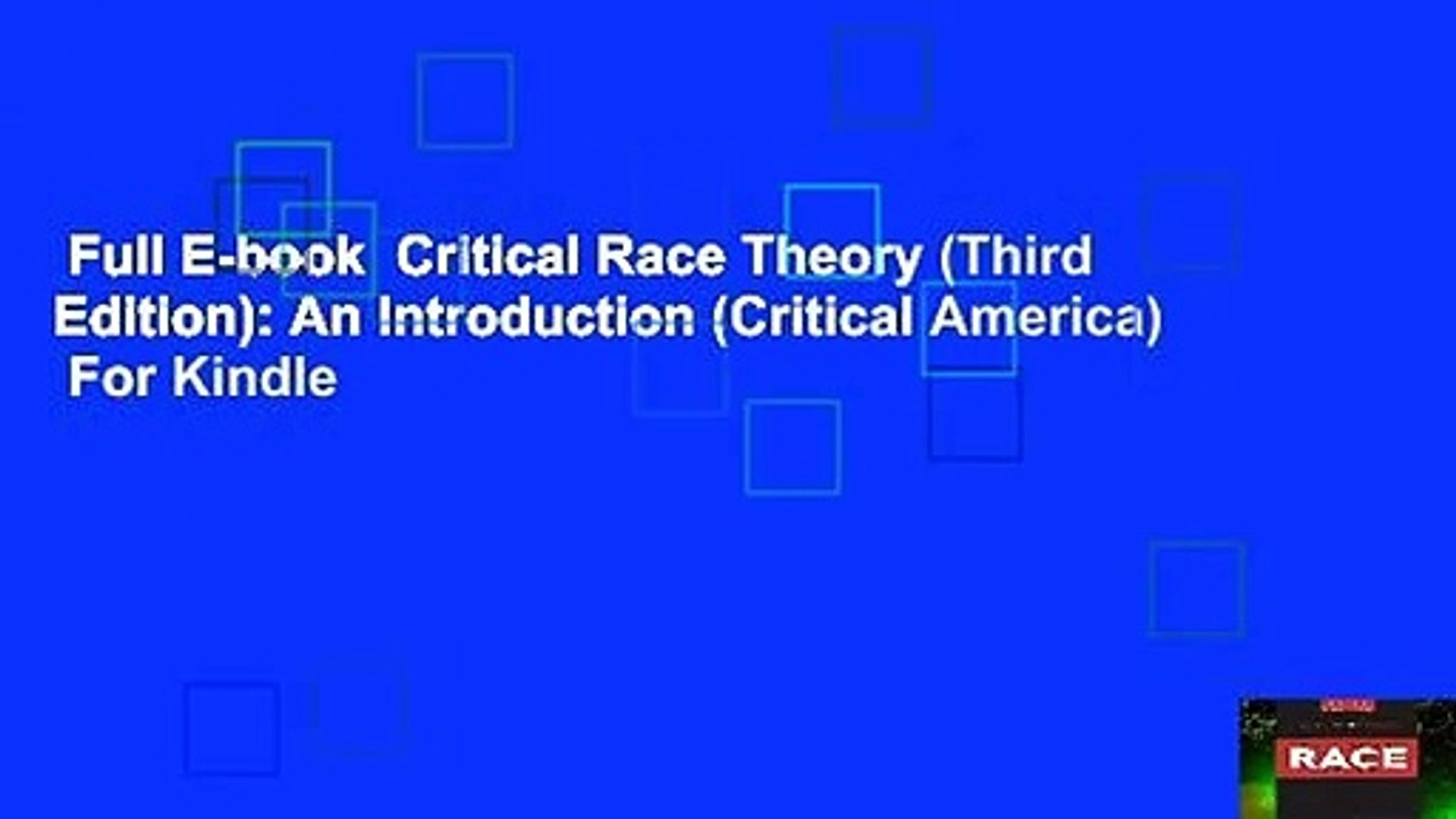 Critical Race Theory Third Edition An Introduction Book ...