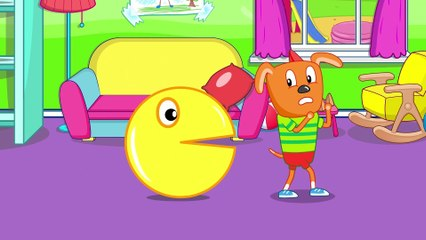 Funny Cartoon CLEAN UP TOYS  Puppy Dog Family