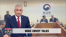 Seoul and Washington's nuclear envoys prepare for their leaders' denuke talks