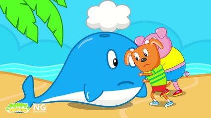 Funny Cartoon RESCUE THE BABY WHALE  Puppy Dog Family