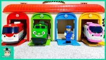 Cars toy video for Children. Learn Color With Tayo bus Train on a rail rod with TITIPO - MariAndToys