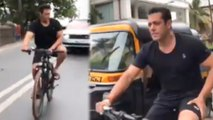 Salman Khan's NEW Cycling Video From Galaxy Appartments To Mehboob Studio