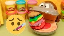 Singe Malade Jouets Docteur Hamburger Géant Biscuits Pâte à modeler Magique Couleurs Play-Doh