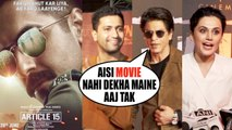 Bollywood Celebs Reaction Of Movie Article 15 | Shahrukh Khan , Taapsee Pannu , Suni Shetty