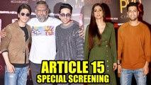 Shah Rukh, Vicky Kaushal, More Show Support to Ayushmann Khurrana's Article 15 Screening