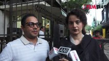 Kangana Ranaut gets angry on media for asking question on Aditya Pancholi | FilmiBeat