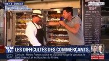 Sur le marché de Carprentras, Michel, rôtisseur, fait griller la viande sous 45°C