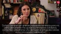 """Irene Montero: """"Doña o Semper son grandes referentes feministas para mí, pero últimamente me gustan los referentes cotidianos, como mis compañeras. Una de nuestras principales tareas es reconocernos y visibilizarnos"""""""