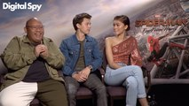 Tom Holland, Zendaya & Jacob Batalon discuss Ned's EVIL TURN in Spiderman Far From Home!