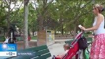 Spéciale Canicule: Une mère de famille profite du soir pour sortir ses enfants - VIDEO