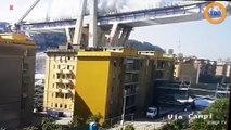 L'incroyable destruction du pont Morandi à Gênes