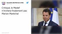 Le Medef renonce à inviter Marion Maréchal à son université d'été