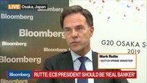 Dutch PM Rutte Says EU Must Intervene on Italy's Finances