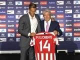 Atl. Madrid - Marco Llorente présenté devant la presse