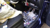 Dirty Disaster! Driver Involved In Collision Because Car  Was So  Filled With Garbage, They Couldn't Find Handbrake!
