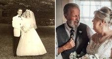 Des grands-parents célèbrent leur 60e anniversaire de mariage avec de sublimes photos de mariages réalisées par leur petite-fille