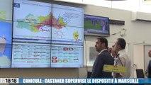 Vigilance rouge canicule : Christophe Castaner à Marseille pour superviser le dispositif