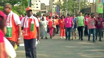 Morocco and Ivory Coast supporters arrive for AFCON clash in Cairo