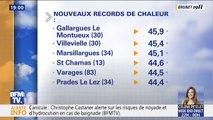 Dans le Gard, le seuil des 45° degrés a été dépassé pour la première fois en France