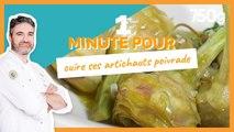 1 min pour ... Cuire ses artichauts poivrade - 750g