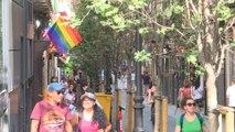 Banderas arcoíris por el Día Internacional del Orgullo en Madrid