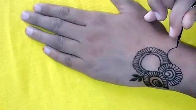Latest Arabic Mehndi Design For Back Hand Ll Mehndi Design