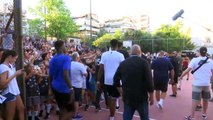 NBA MVP Antetokounmpo greeted by hundreds of fans as he returns to Athens