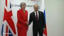 May Meets Putin at G-20 Summit With Grim Stare