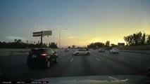 Un conducteur chanceux ou surdoué évite le pire d'une façon géniale...