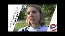 Marion Sicot, ses impressions avant le Championnat de France