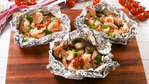 You Should Be Grilling Tuscan Butter Shrimp Foil Packs