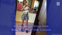 Britney Spears Brings Back 'Baby One More Time' Costume